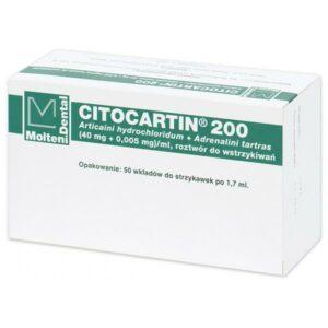 Citocartin 200 iniekcje 17 ml, 50 wkładów, Molteni